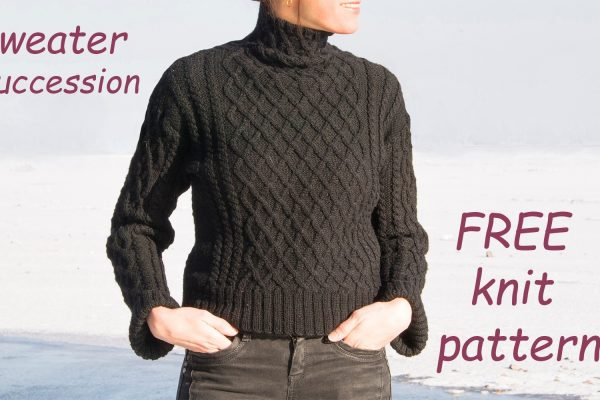 Cable sweater – FREE knit pattern