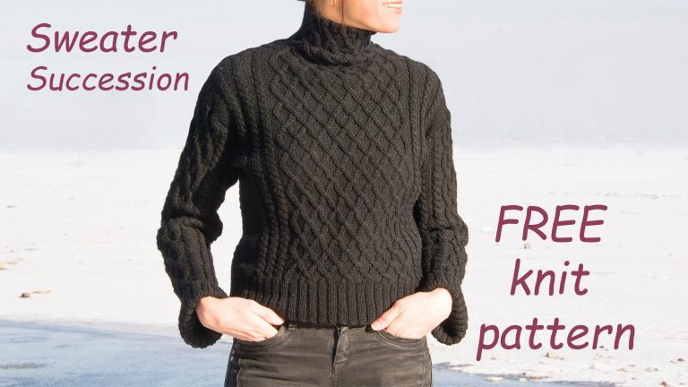 Cable Sweater Free Knit Pattern