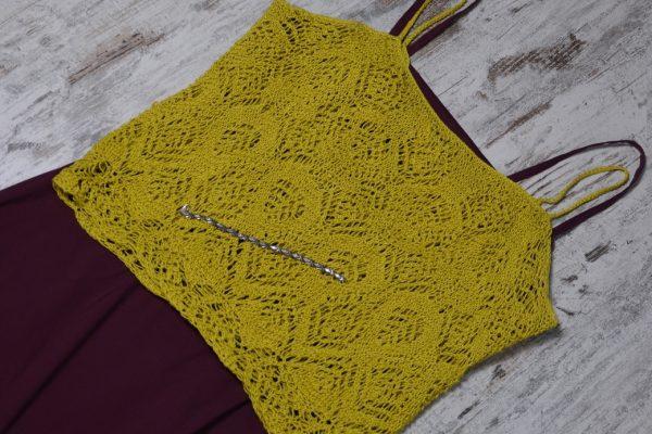 Yellow Lace Top – FREE knit pattern