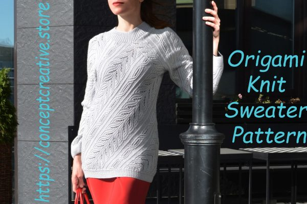 Origami Knit Sweater – Pattern Heuristic