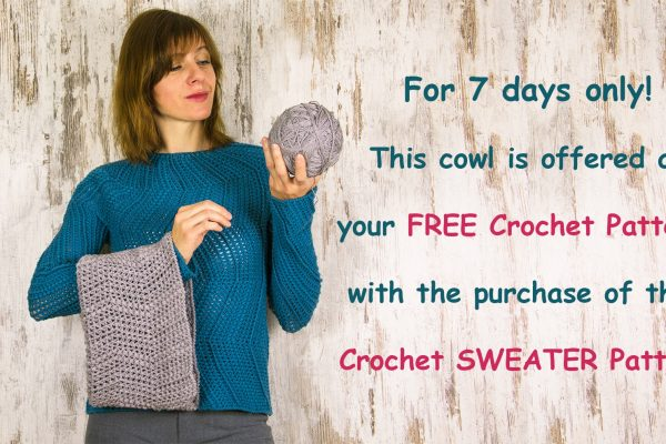 DETOUR SWEATER + COWL: Crochet Patterns
