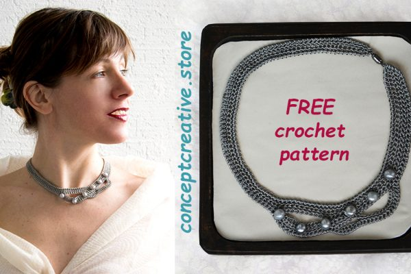 New Year's necklace – FREE crochet pattern