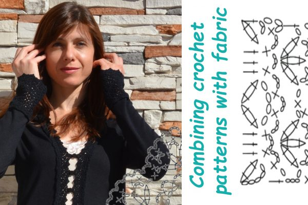 Combining crochet patterns with fabric