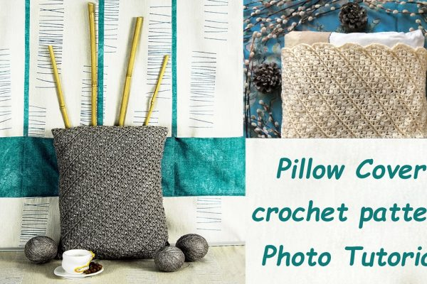 DIAGONAL BLOSSOMS: Crochet Pillow Cover Pattern