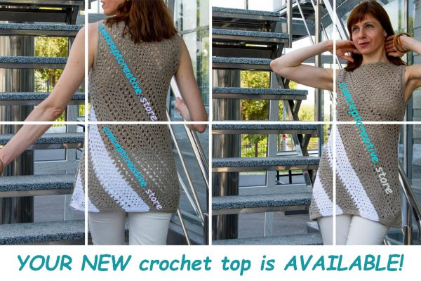 TRAPEZOID: Corner to Corner Crochet Top Pattern