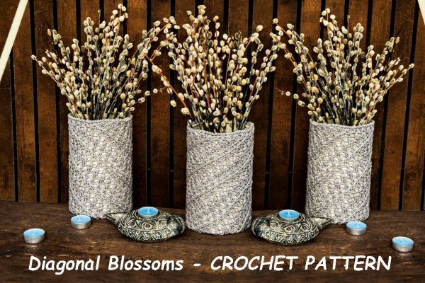 DIAGONAL BLOSSOMS: Crochet Pattern