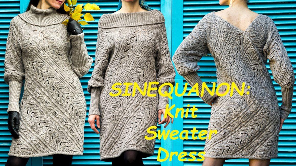 SINEQUANON: Knit Sweater Dress Pattern
