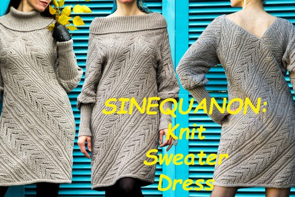SINEQUANON: Knit Sweater Dress Pattern