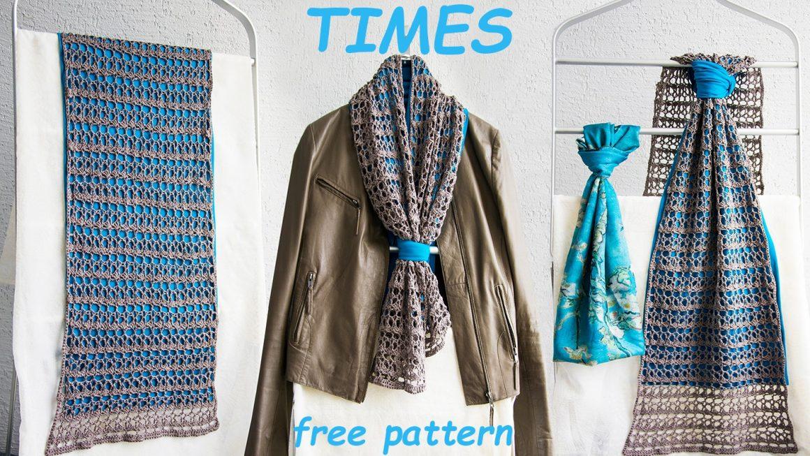 TIMES wrap – FREE crochet pattern