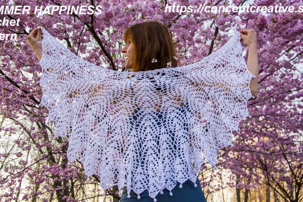 SUMMER HAPPINESS shawl: crochet pattern